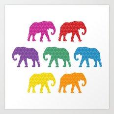 Elephants on Parade Art Print