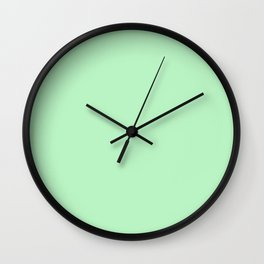 Pastel Green Wall Clock