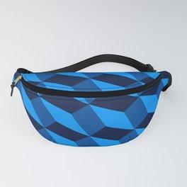 3d Cube Pattern Blue Platonic Solids Fanny Pack