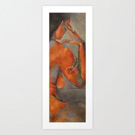 Blue Nude in Side Profile.  Art Print