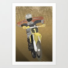 Motocross Art Print