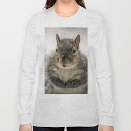 Adorable Praying Squirrel..Feed ME!! Long Sleeve T-shirt