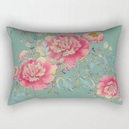 tender gipsy paeonia Rectangular Pillow