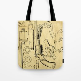 Revolver Support Patent Drawing From 1856 Tote Bag