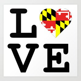 Love Maryland Art Print