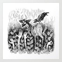 Garden of Left Hands Art Print