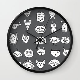 Different Animals Wall Clock