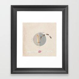 Gravity | Collage Framed Art Print