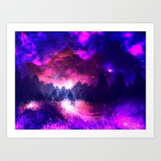 Cosmic Mountains Art Print