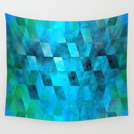 Stacked Sky (blue) Wall Tapestry