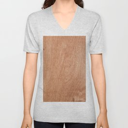 Abstract pastel brown rustic wood texture Unisex V-Neck