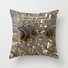 Life is a Bicycle Throw Pillow