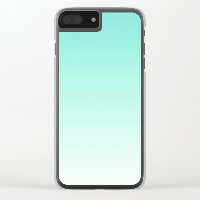Ombre gradient digital illustration green, blue colors Clear iPhone Case