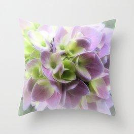 Blue Hydrangea Flower A422 Throw Pillow