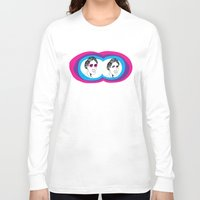 virginia Long Sleeve T-shirts featuring Virginia Woolf by Mohac