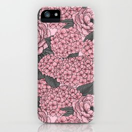 Floral bouquet in pink iPhone Case