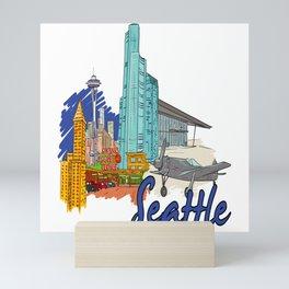 Seattle USA Mini Art Print