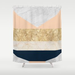 Gold and marble composition IV Shower Curtain