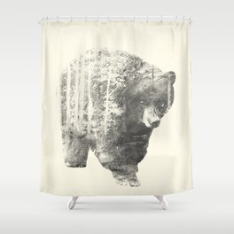 The Mixed Bear Shower Curtain