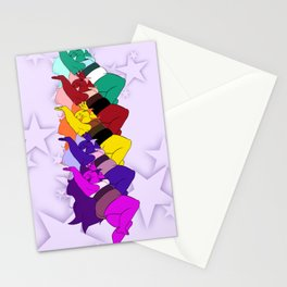 Amethyst Falling in a Cool Color Palette Stationery Cards