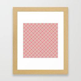 Multi Colored Pastel Rainbow Colors Tartan Plaid Framed Art Print