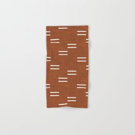 double dash - burnt orange Hand & Bath Towel