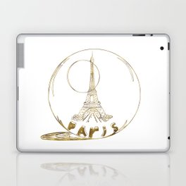 Golden Paris . Eiffel tower . Art Laptop & iPad Skin