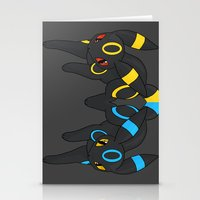 umbreon Stationery Cards featuring Umbreon Duo by Kurew Kreations