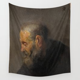 Rembrandt - Study of an Old Man in Profile (1630) Wall Tapestry