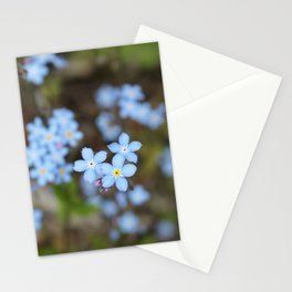 Forget-Me-Nots Three Stationery Cards