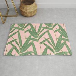 Elegant bamboo foliage design Rug