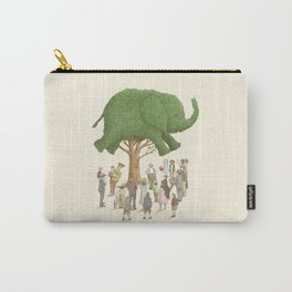 The Night Gardener - Elephant Topiary  Carry-All Pouch