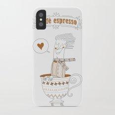 Caffè Espresso iPhone X Slim Case
