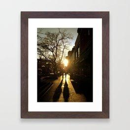 Sunset on Pearl St. Boulder CO. Framed Art Print