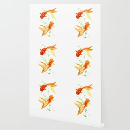 Goldfish, Feng Shui Asian Watercolor Wallpaper