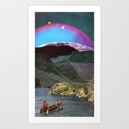 Canoes, Mountains, Planets Art Print