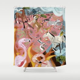 Paradise before the fire (SGHN) Shower Curtain