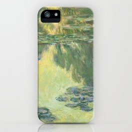 Claude Monet Water Lilies Impressionist Painting iPhone Case