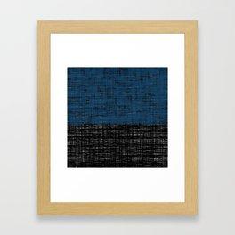 platno (blue) Framed Art Print