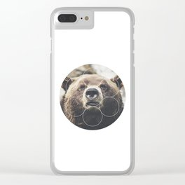 Big Bear Buddy - Geometric Photography Clear iPhone Case