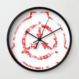 SCP Foundation Symbol Wall Clock