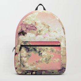 Pink Lavender Flowers Backpack