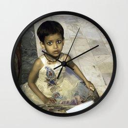Varanasi little girl Wall Clock