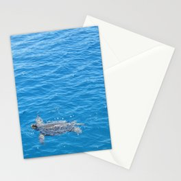 Solo Sea Turtle In Turkey Stationery Cards