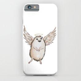 Angel hedgehog iPhone Case