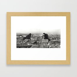 Cincinnati King Kong and Godzilla Rumble Framed Art Print