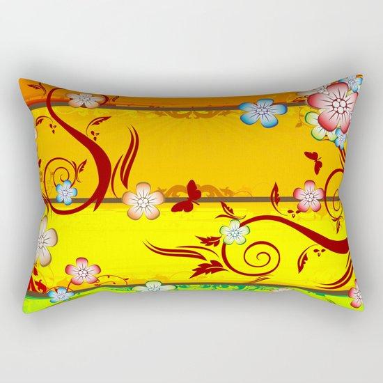 Colorful Florals Rectangular Pillow