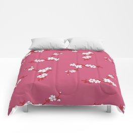 White Blossom Flower Comforters