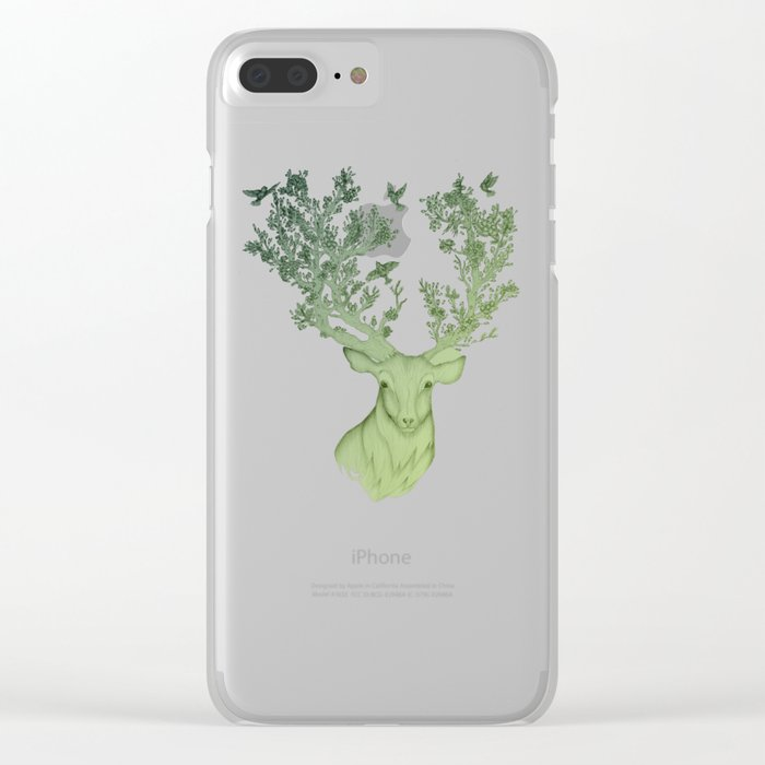 The Natural Progression? 1 of 3 in Green Clear iPhone Case