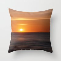 italian Throw Pillows featuring Italian sunset by Steffi Louis